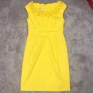 Bright yellow Maggy London dress